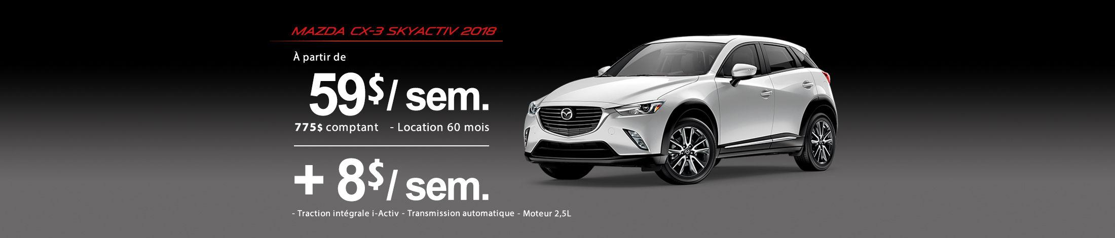 Mazda CX-3 2018 Banniere