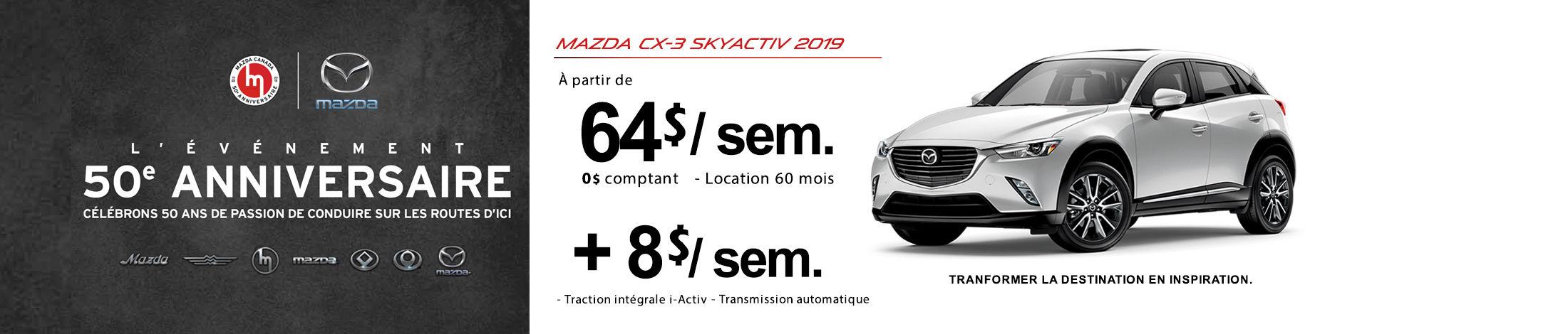 Mazda CX-3 2019 Banniere