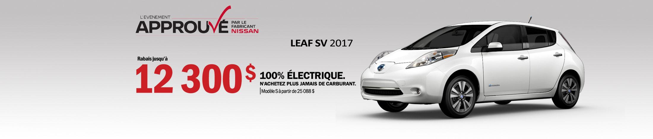 Nissan leaf Promotion Mai banner
