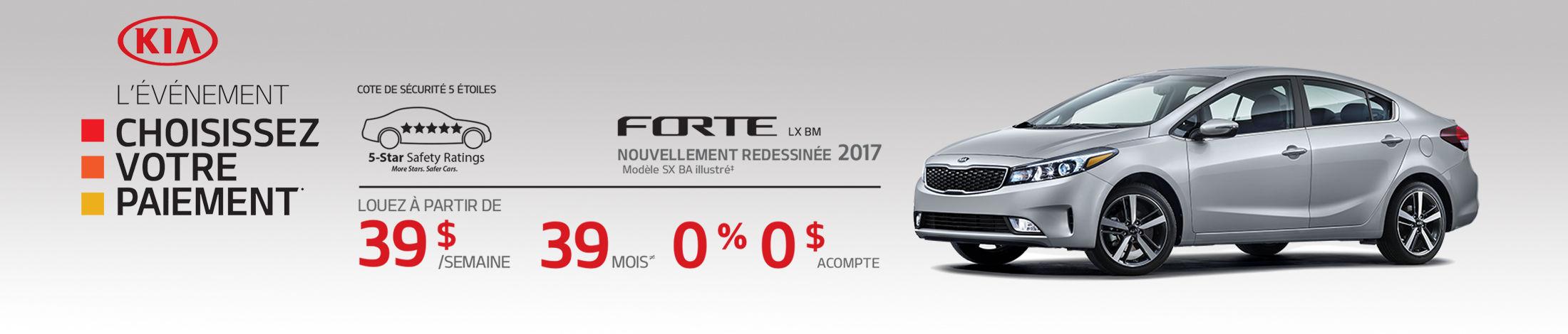 Kia Forte Promotion Mai banner