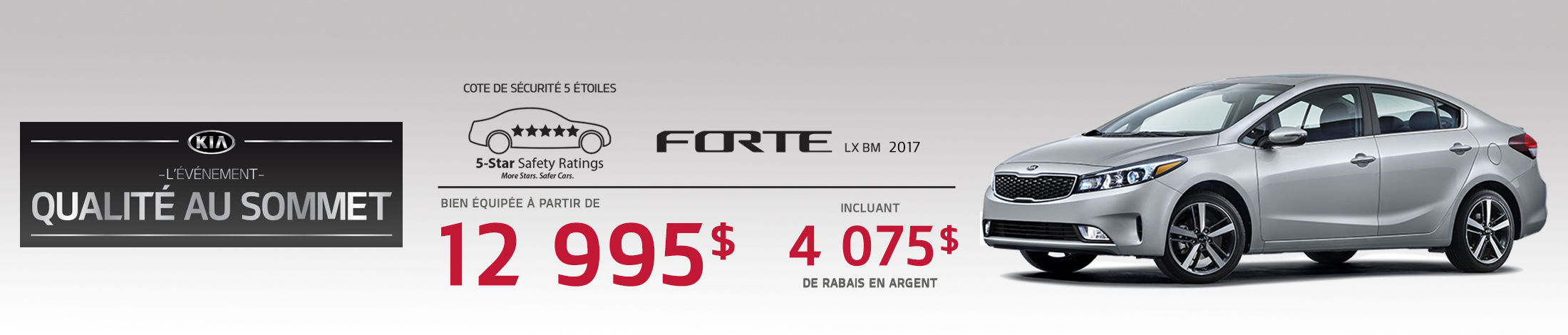 Kia Forte Promotion septembre banner