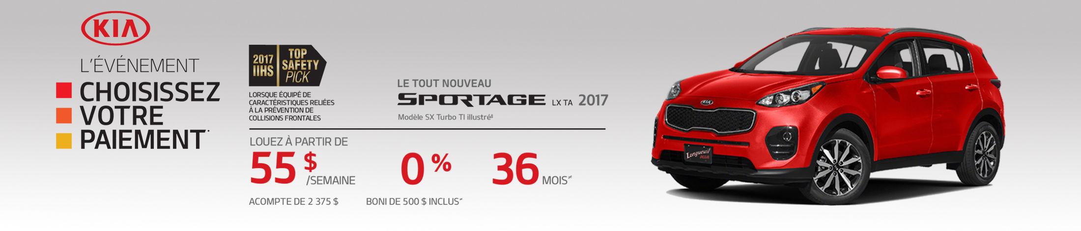 Kia Sportage Promotion Mai banner