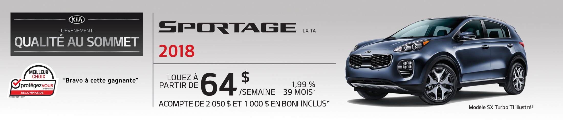 Kia Sportage Promotion octobre banner