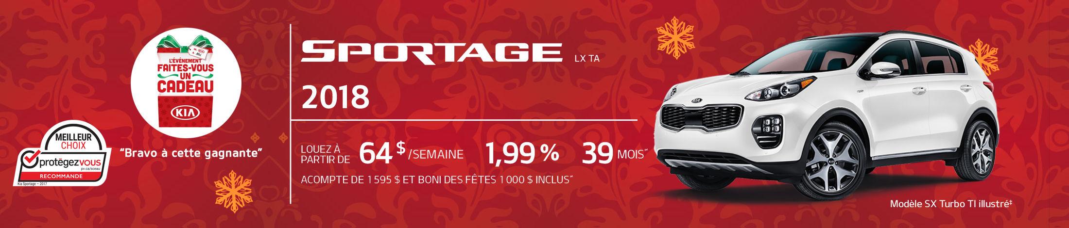 Kia Sportage Promotion novembre banner