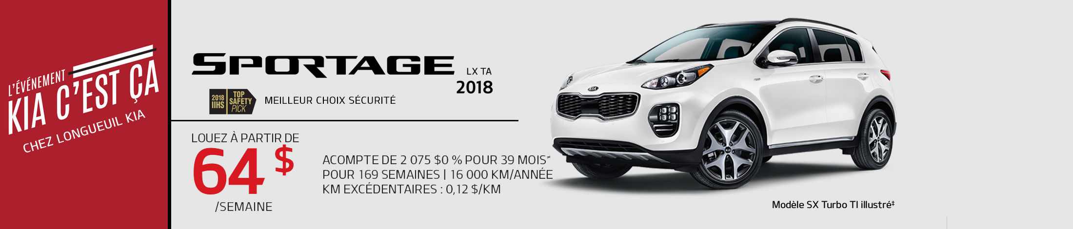 Kia Sportage  Promotion mars banner