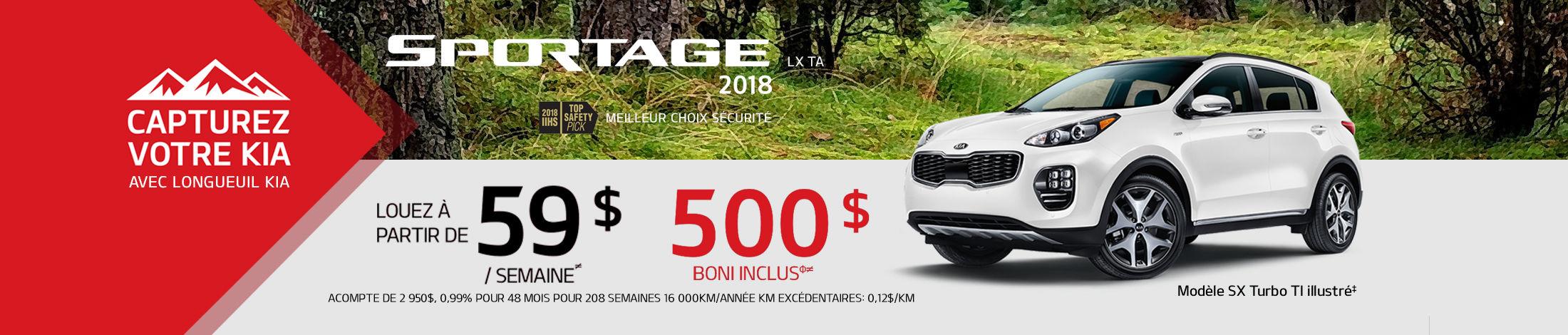 Kia Sportage Promotion juin banner