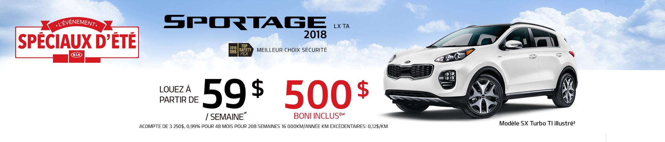 Kia Sportage Promotion aout banner