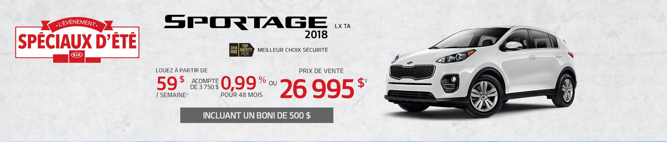 Kia Sportage Promotion septembre