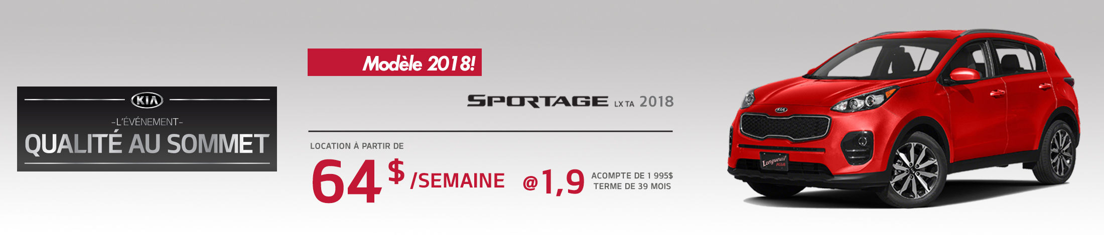 Kia Sportage Promotion septembre banner