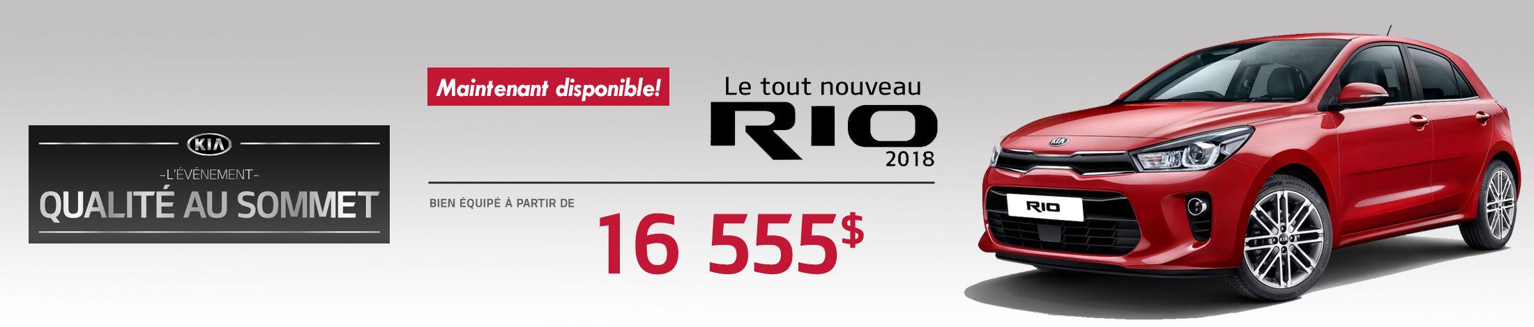 Kia Rio5 Promotion septembre banner