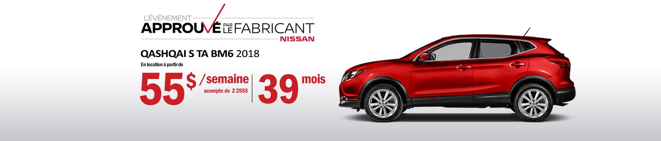 Nissan Qashqai promotion banner avril