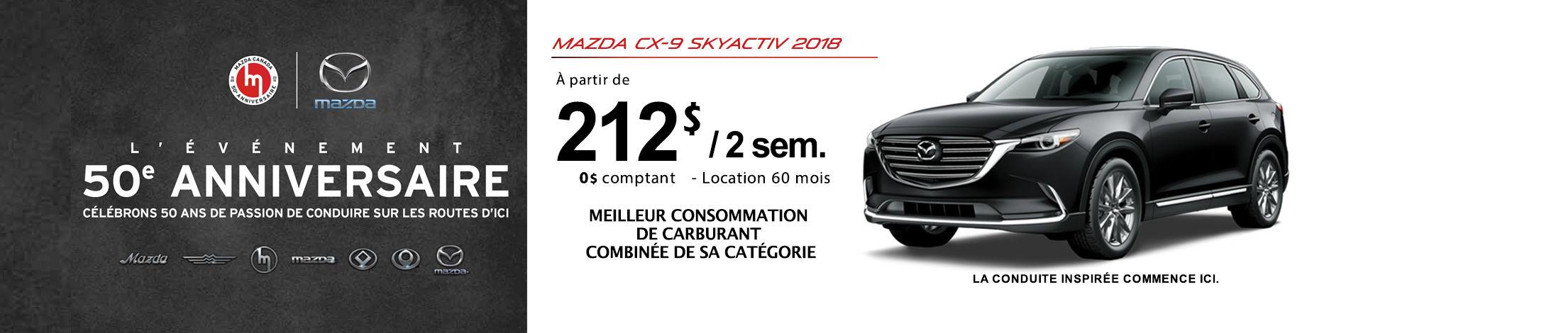 Mazda CX-9 2018 Banniere