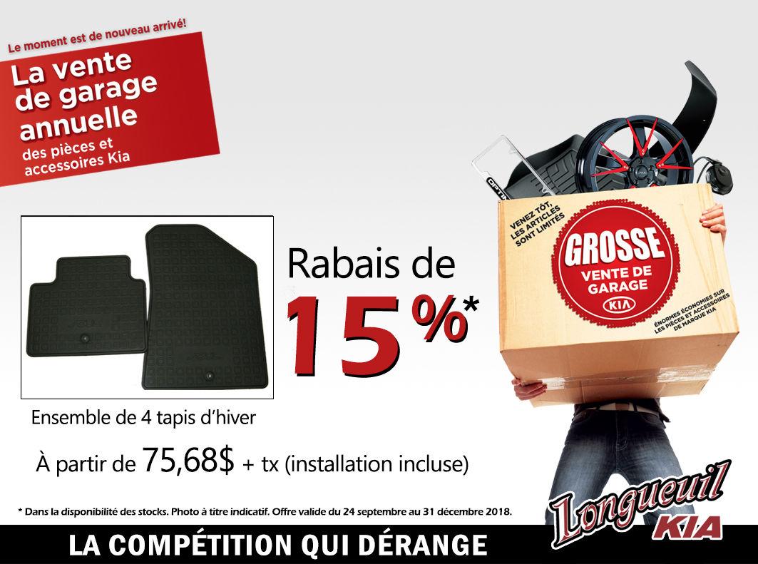 Promotion 15 De Rabais Sur Un Ensemble De 4 Tapis D Hiver