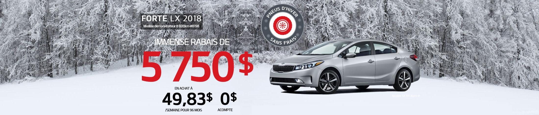 Kia Forte Promotion janvier