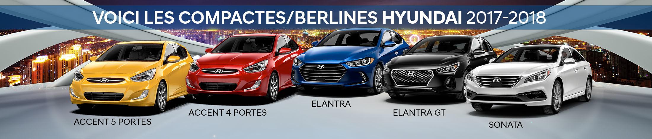 Compactes/Berlines Hyundai 2017-2018