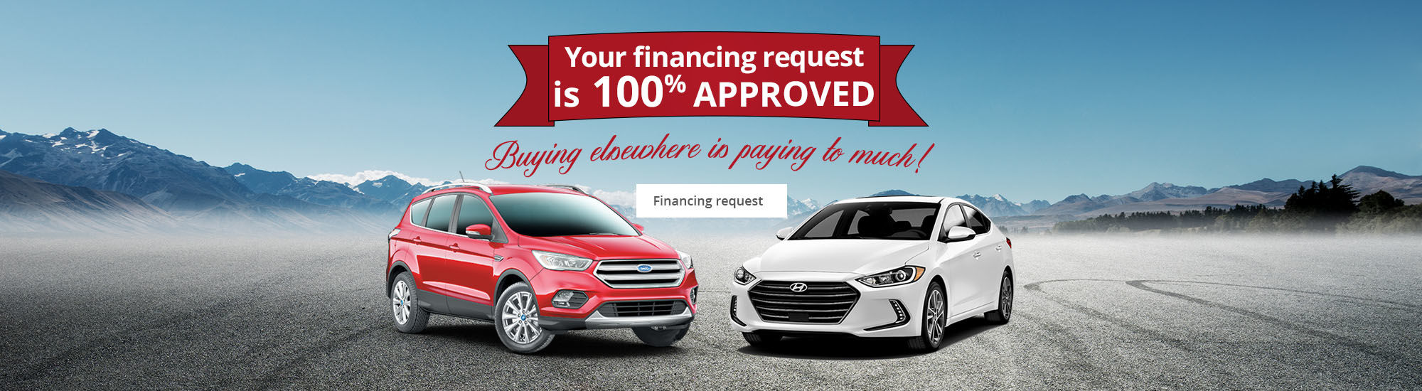 Your financing request is 100% approved