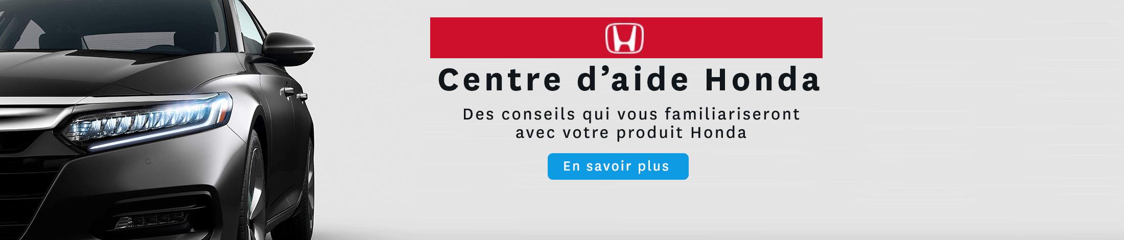 Centre d'aide Honda