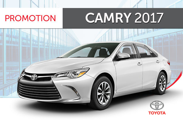 Promotion Camry Le 2017 Groupe Standard Amos Toyota 224 Amos