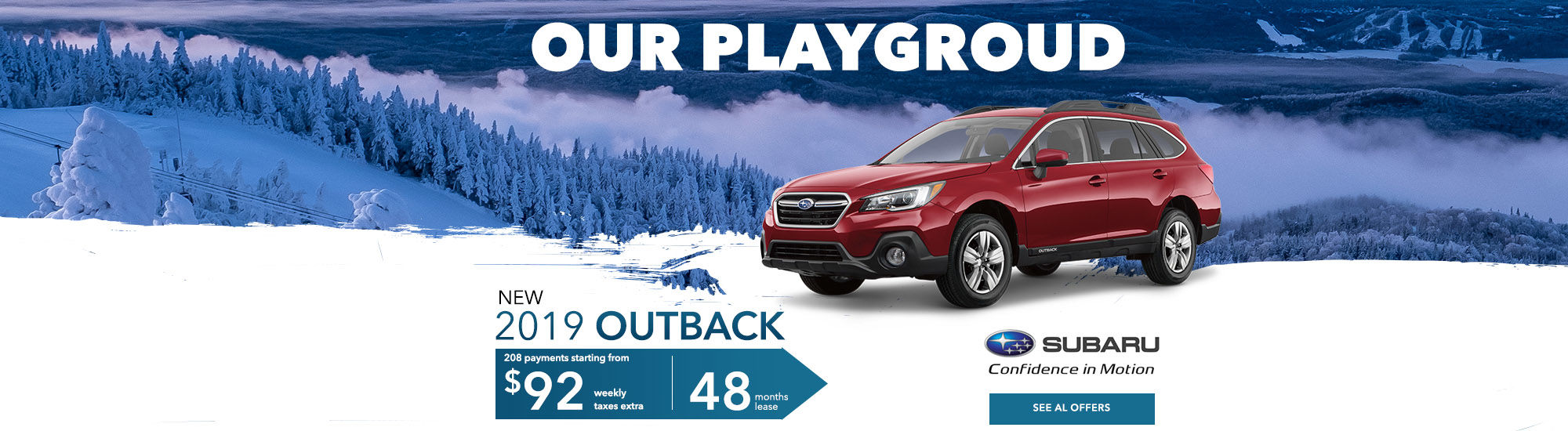 2019 Subaru outback our playgroud