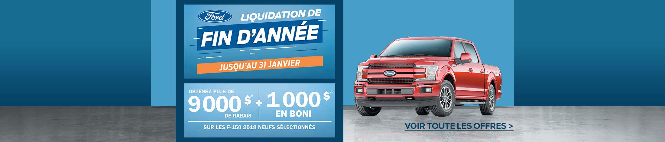 L'événement liquidation fin d'année Ford