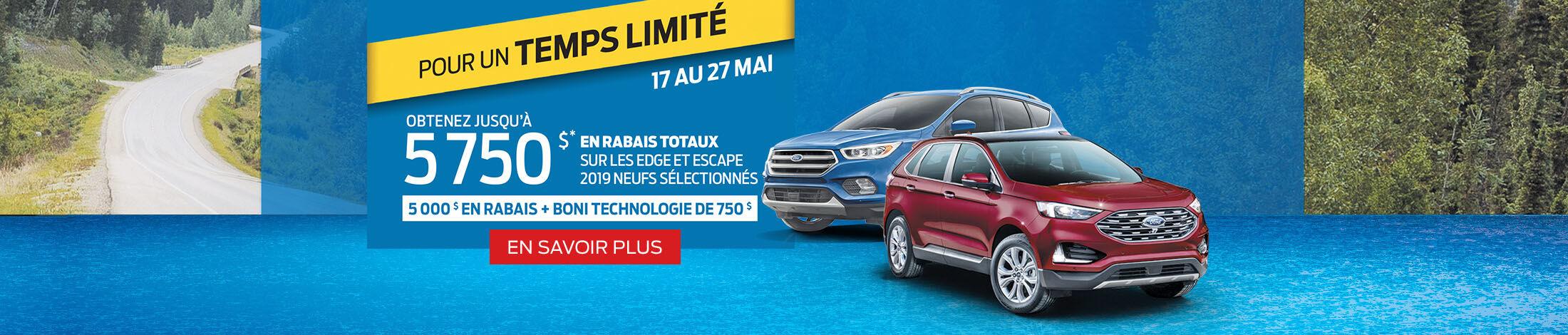 Edge et escape 2019 offre de Ford