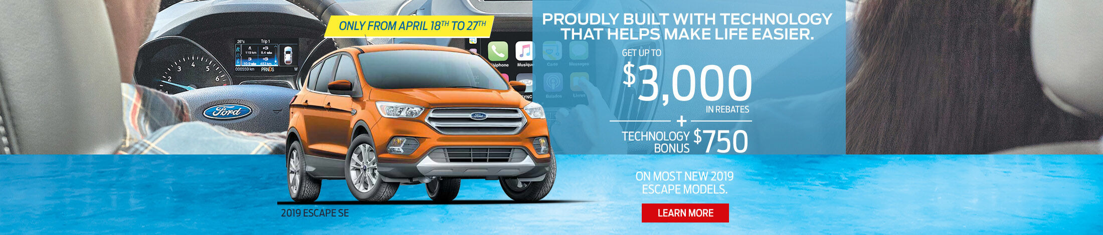 2019 Escape Ford offer