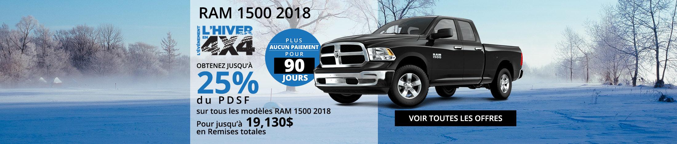 Ram 1500 2018 offre
