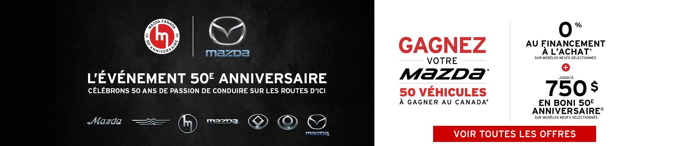 L'événement 50e anniversaire Mazda