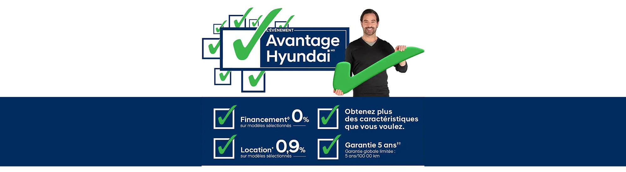 L'événement l'avantage Hyundai