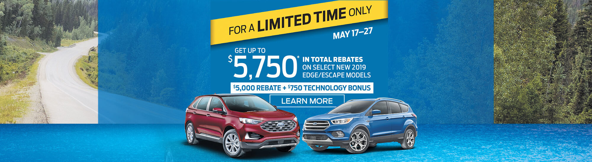 2019 Edge and Escape Ford offer