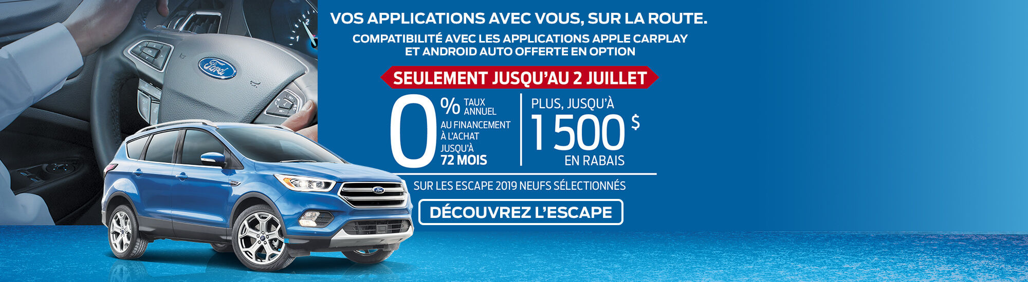 Escape 2019 offre de Ford