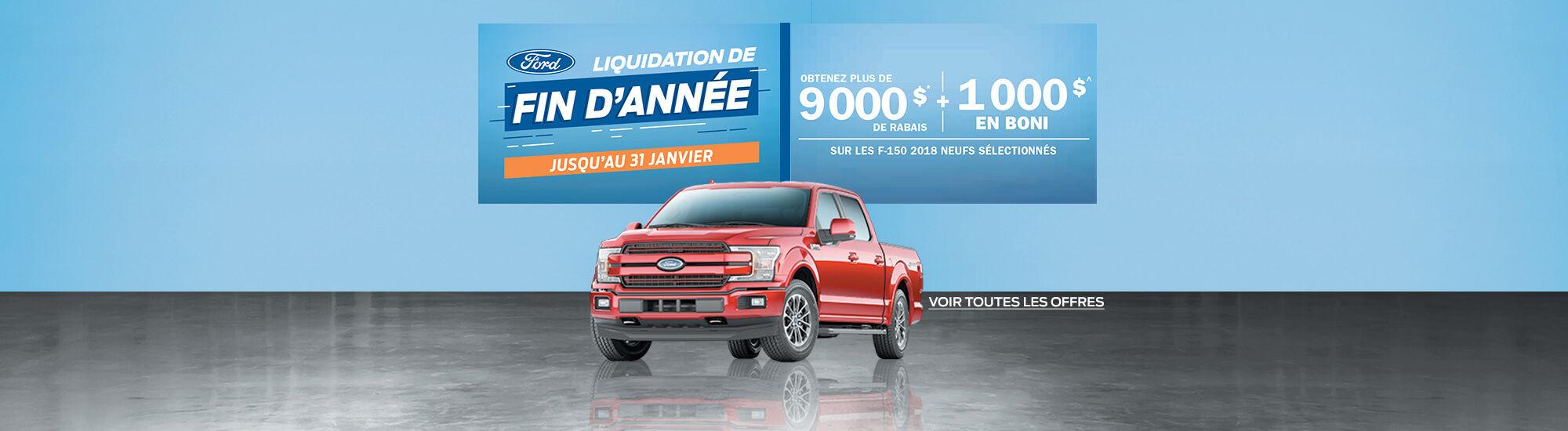 Liquidation de fin d'année Ford