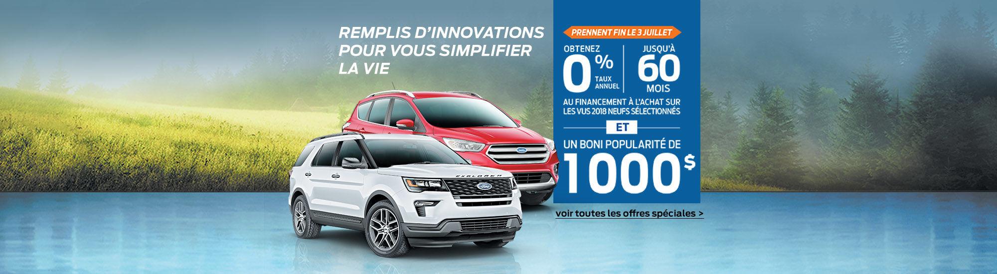 Ford-Remplis d'innovations pour vous simplifier la vie