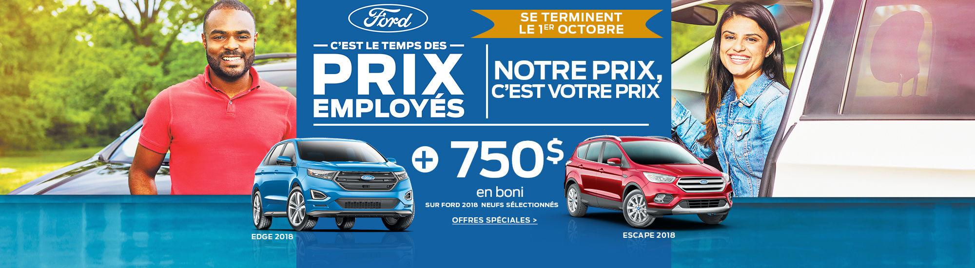 Ford-C'est le temps des prix employés