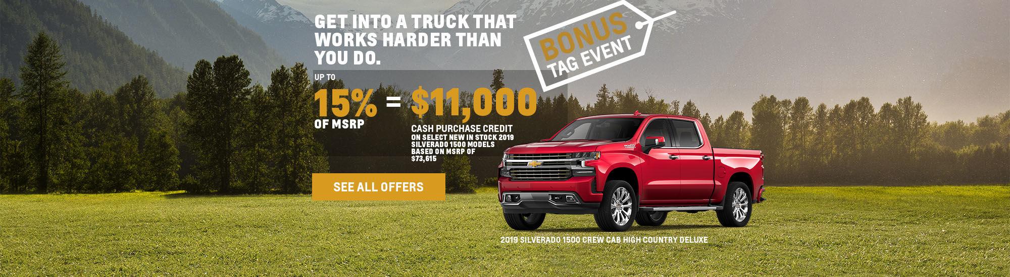 Chevrolet Bonus Tag Event event