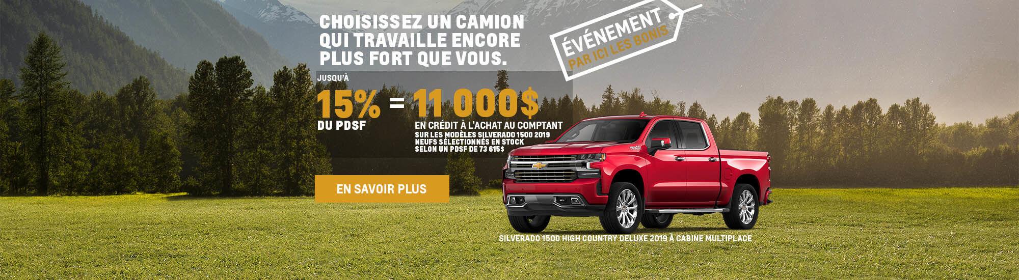 Événement Par ici les bonis Chevrolet