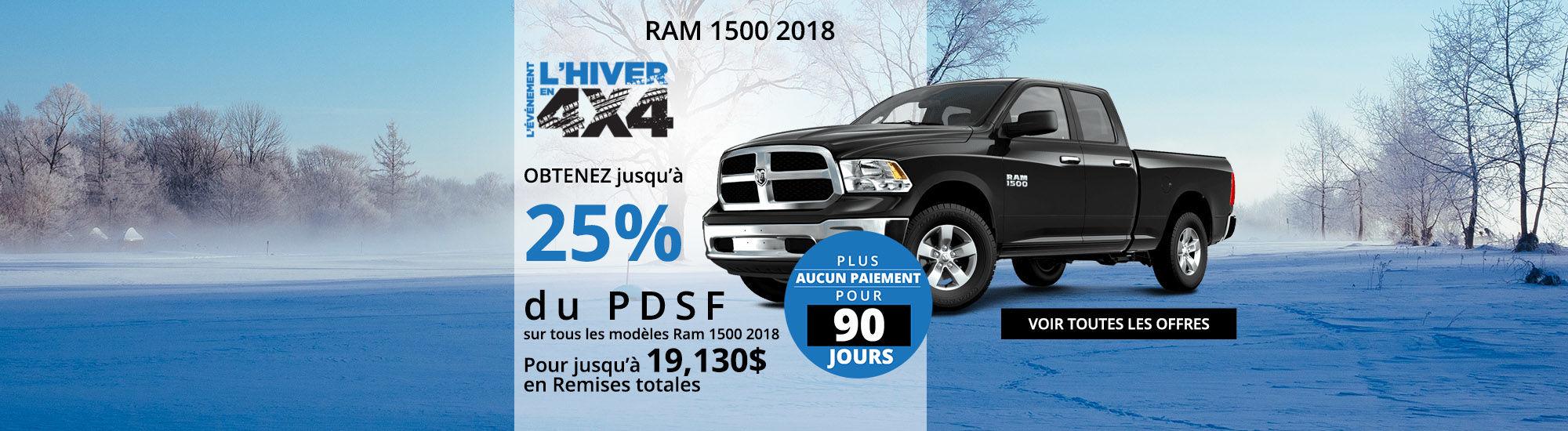 Ram 2018 offre