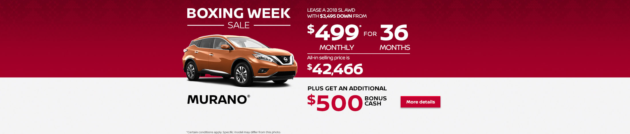 Nissan Boxing Week Sale Event (Betty-NS)