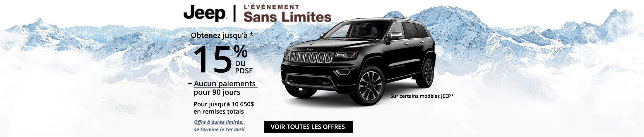 Jeep l'événement sans limites