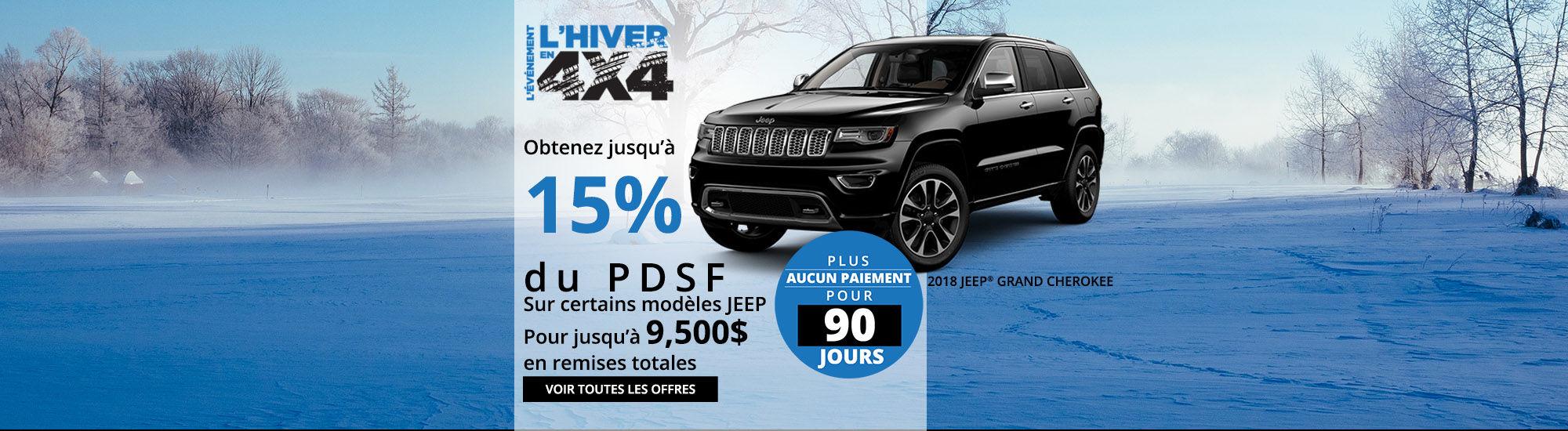 Offres spéciales Jeep