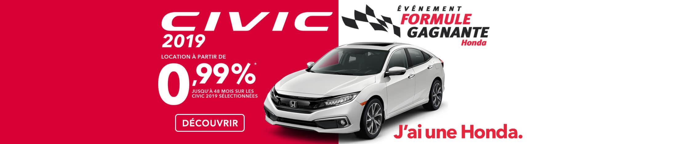 Honda Événement Formule Gagnante