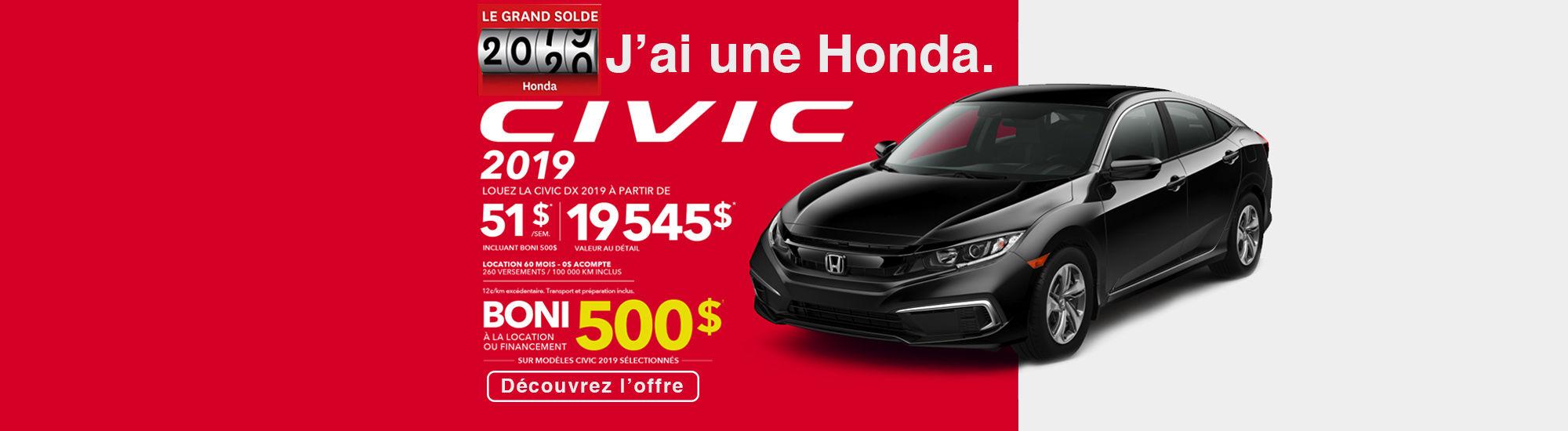 Honda le grand solde