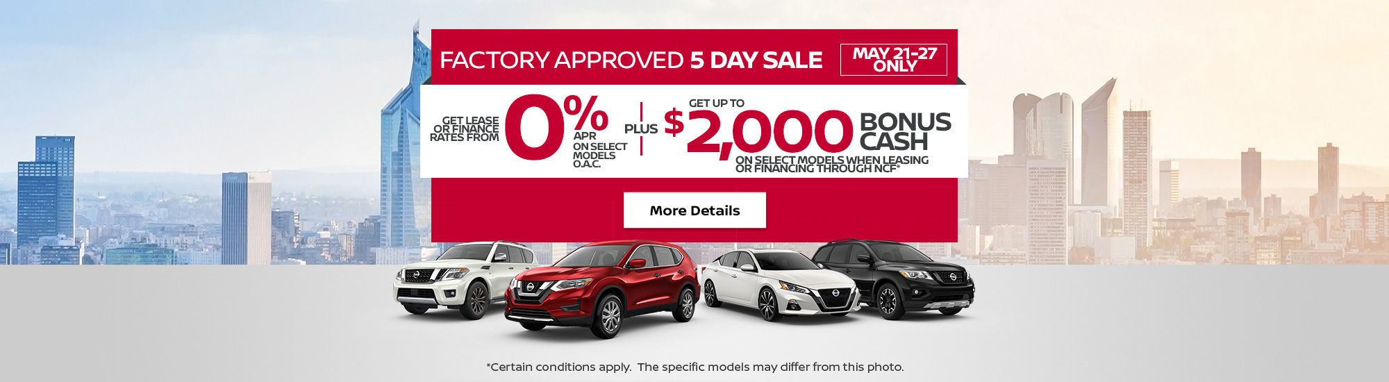 Nissan monthly event (Charly-NB) (5 day)