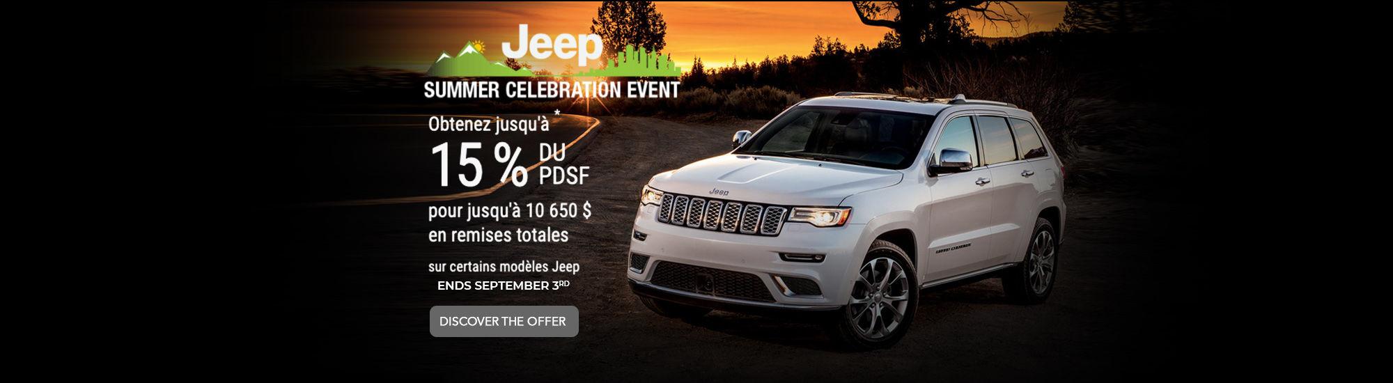 Summer days event Jeep