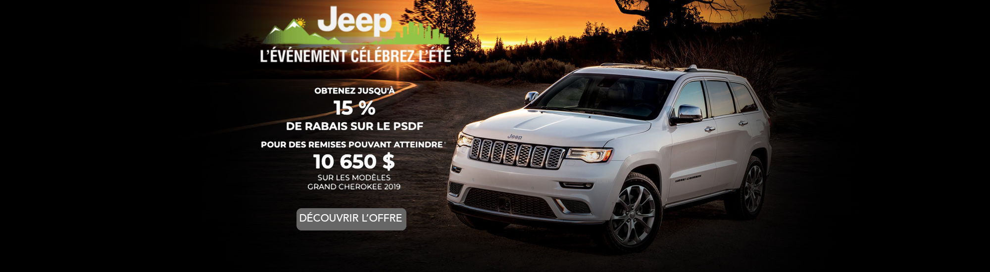 Événement célébrez l'été Jeep