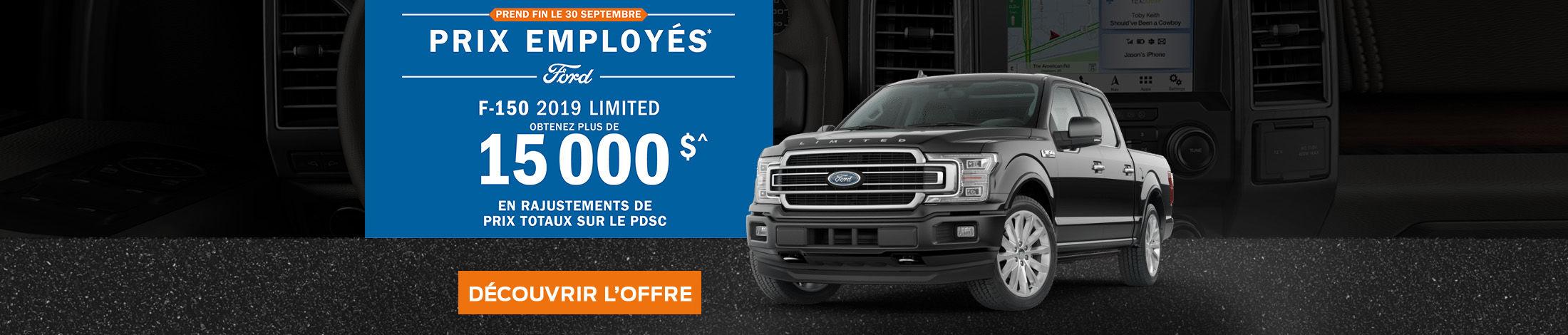 C'est le temps des prix employés Ford