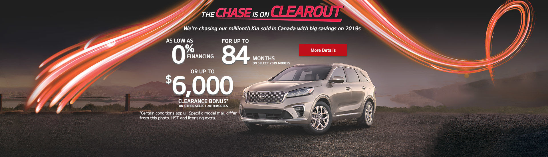 The Kia Chase Is On Clearout!