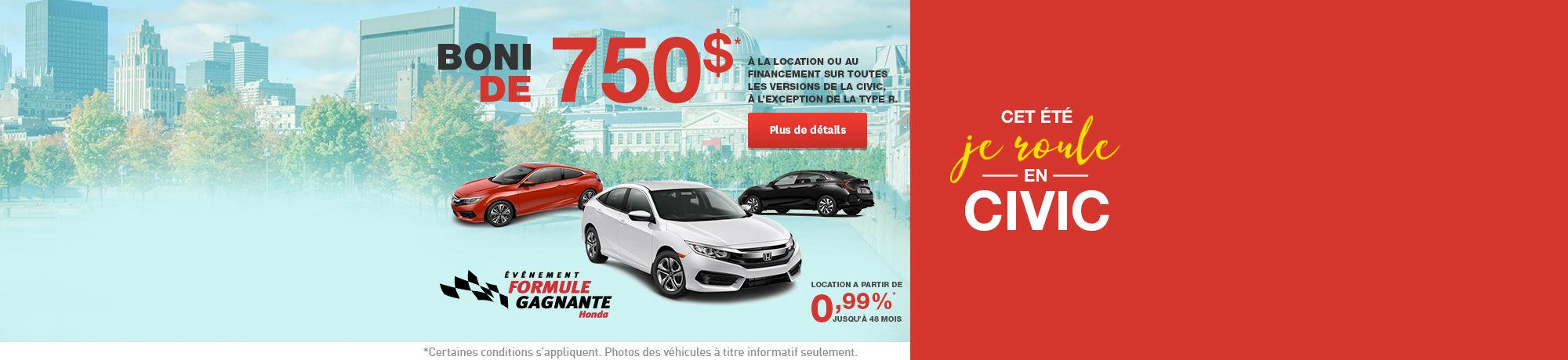 Événement formule gagnante Honda (web)