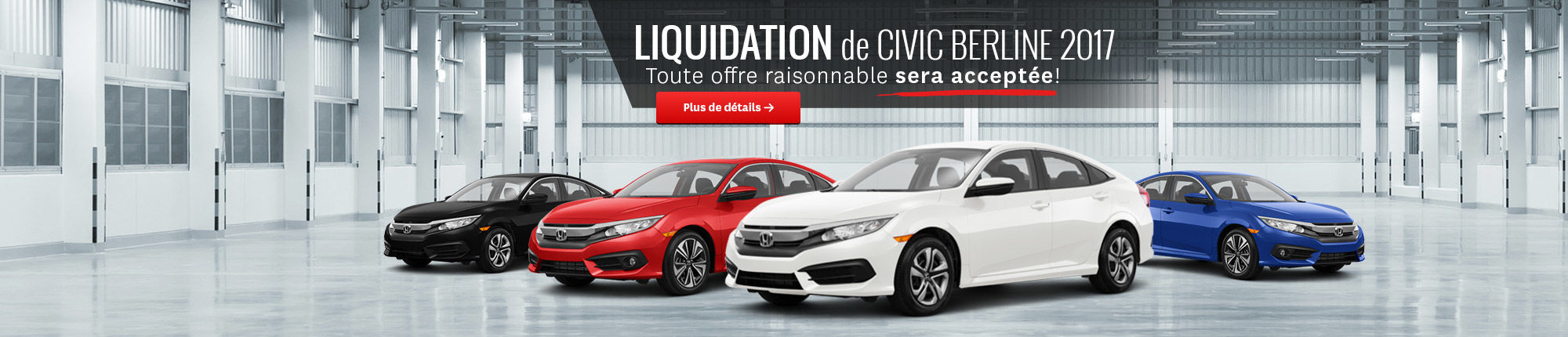 Liquidation Civic Berline 2017