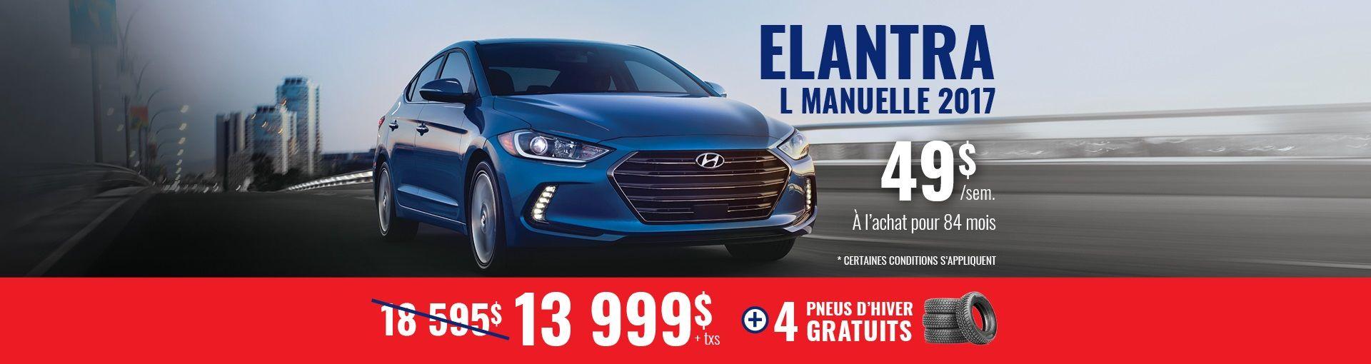 Elantra L manuelle 2017 Promo Hyundai Casavant St-Hyacinthe